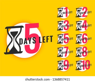 promotional banner with number of days left