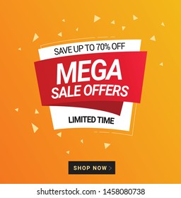 Promotional Banners, winter sale, big sale, mega, fashion sale, best deal, special offer, summer, winter, banners
