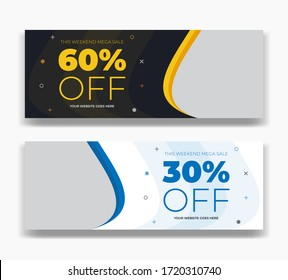 Promotional discount fashion sale offer social media post facebook cover timeline web ad banner template