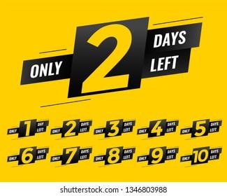 promotional number of days left sign banner