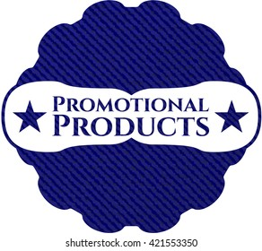 Promotional Products emblem with jean high quality background