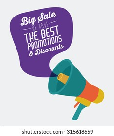 Promotions and discounts  message digital design, vector illustration eps 10