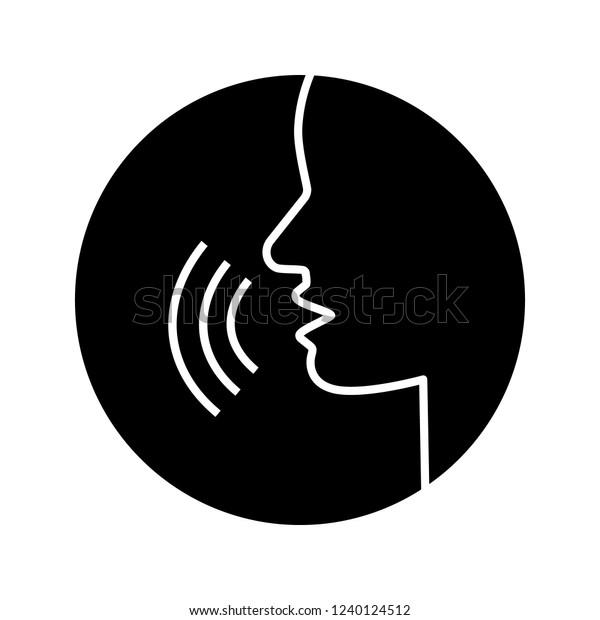 Pronunciation Glyph Icon Phonetic Spelling Speech Stock
