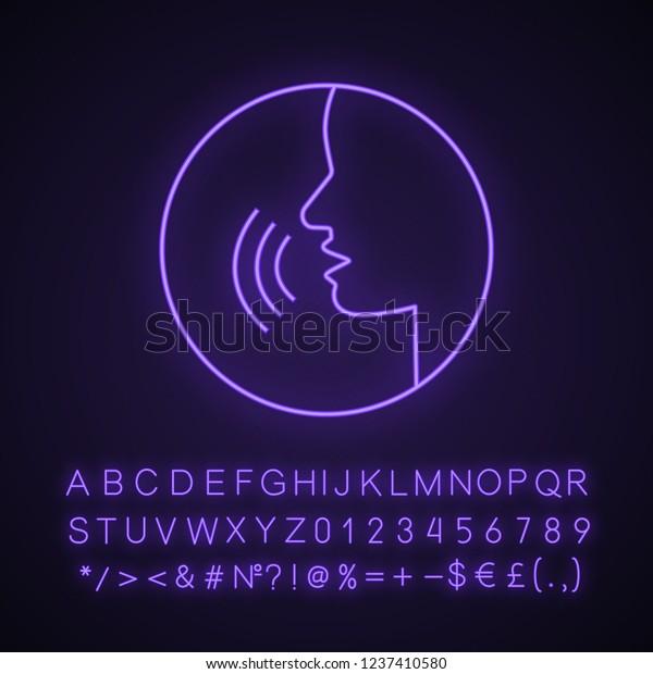 Pronunciation Neon Light Icon Phonetic Spelling Stock Vector