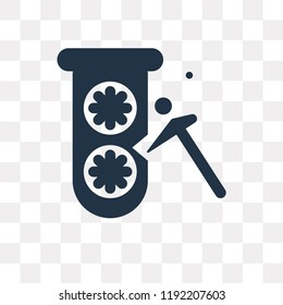 Proof of capacity vector icon isolated on transparent background, Proof of capacity transparency concept can be used web and mobile