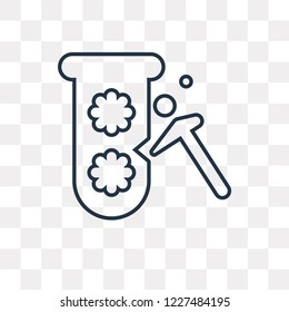 Proof of capacity vector outline icon isolated on transparent background, high quality linear Proof of capacity transparency concept can be used web and mobile
