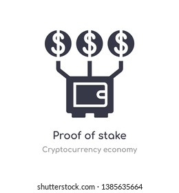 proof of stake icon. isolated proof of stake icon vector illustration from cryptocurrency economy collection. editable sing symbol can be use for web site and mobile app