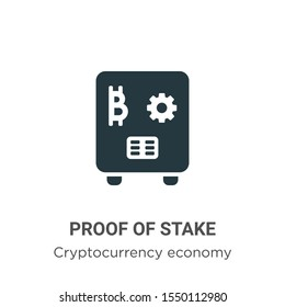 Proof of stake vector icon on white background. Flat vector proof of stake icon symbol sign from modern cryptocurrency economy and finance collection for mobile concept and web apps design.