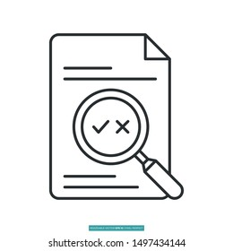 proofreading icon vector illustration logo template for many purpose. Isolated on white background.