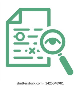 proofreading vector icon on the website