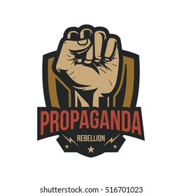 Propaganda Badge, Fist Hand