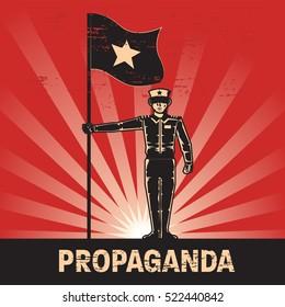 Propaganda poster template