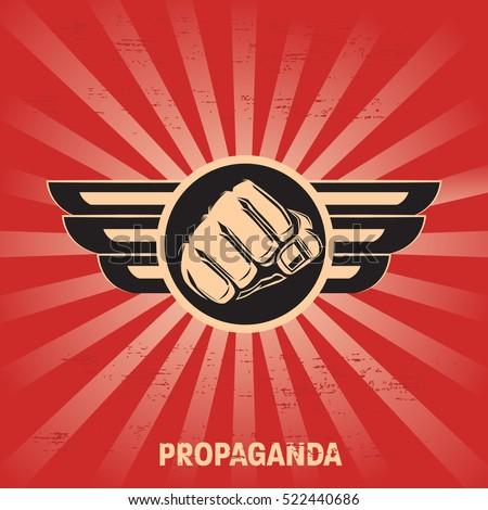 propaganda poster template のベクター画像素材 ロイヤリティフリー