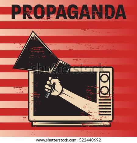 propaganda poster template stock vector royalty free 522440692