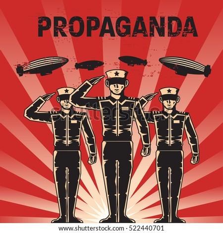 propaganda poster template stock vector royalty free 522440701