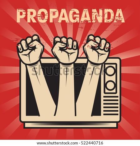 propaganda poster template stock vector royalty free 522440716