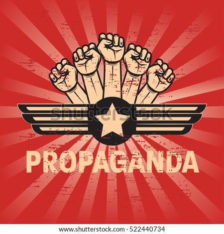 propaganda poster template stock vector royalty free 522440734