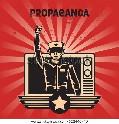propaganda poster template stock vector royalty free 522440740