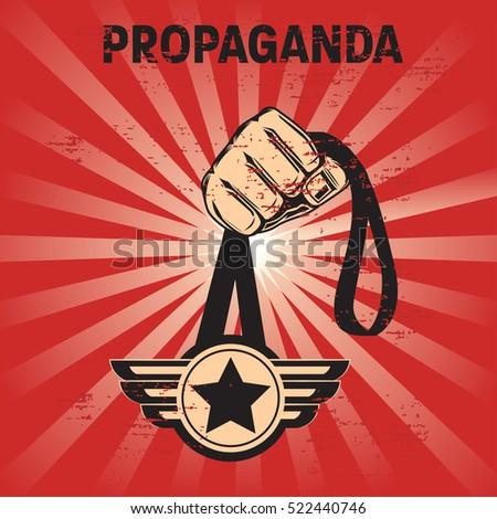 propaganda poster template stock vector royalty free 522440746