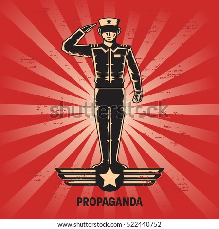 propaganda poster template stock vector royalty free 522440752
