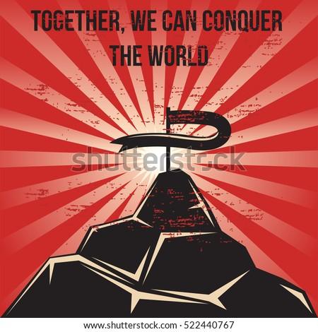 propaganda poster template stock vector royalty free 522440767
