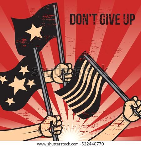 propaganda poster template stock vector royalty free 522440770