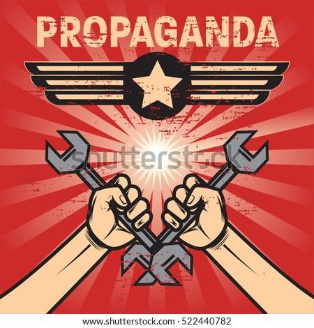 propaganda poster template stock vector royalty free 522440782