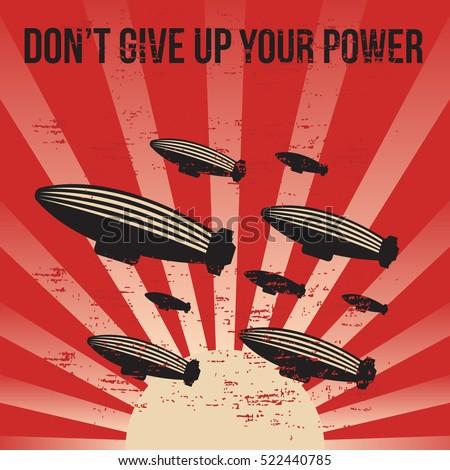 propaganda poster template stock vector royalty free 522440785