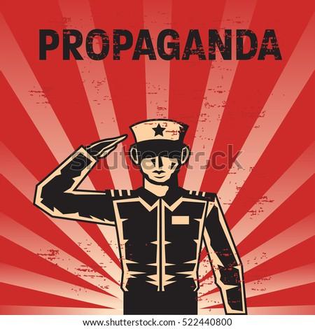 propaganda poster template stock vector royalty free 522440800