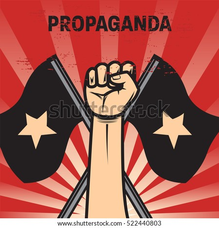 propaganda poster template stock vector royalty free 522440803