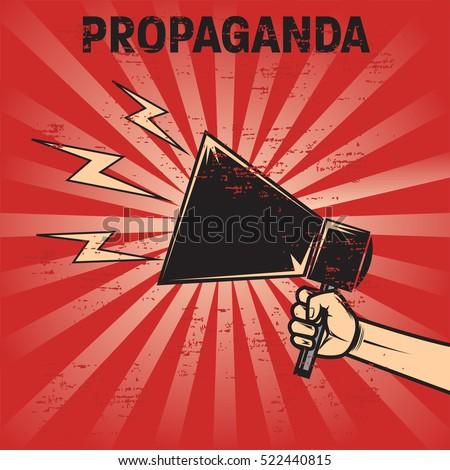 propaganda poster template stock vector royalty free 522440815