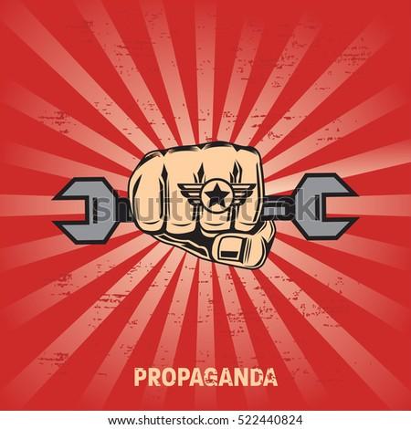 propaganda poster template stock vector royalty free 522440824