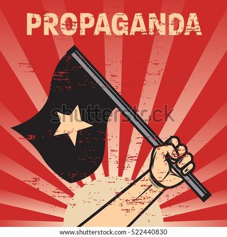propaganda poster template stock vector royalty free 522440830