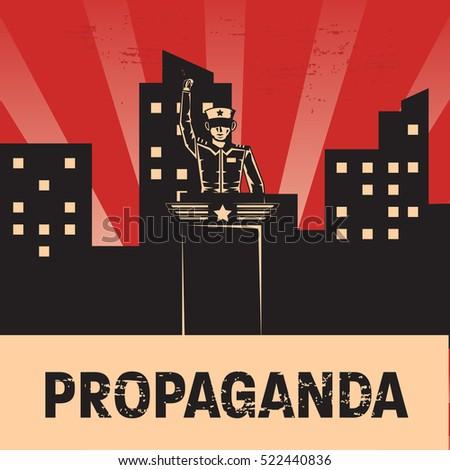 propaganda poster template stock vector royalty free 522440836