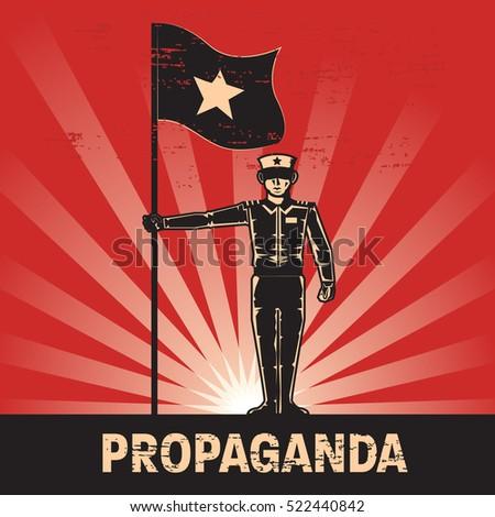propaganda poster template stock vector royalty free 522440842
