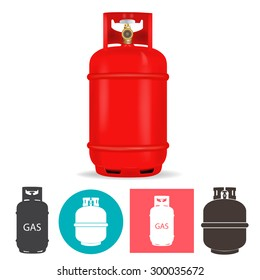 Propane gas container