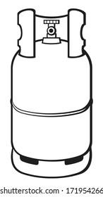 a propane gas cylinder