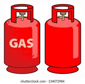 Propane gas cylinder, vector illustration