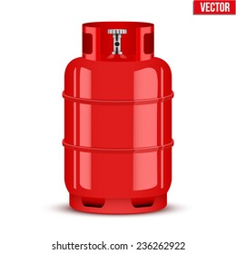 Propane Gas cylinder. Vector Illustration isolated on white background.