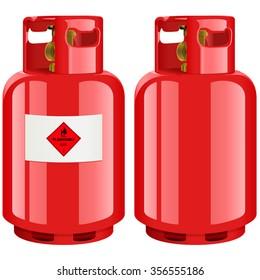 Propane gas cylinder - vector illustration