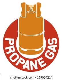 propane gas label