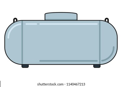 Propane Gas Tank filled outline. Clipart image isolated on white background