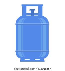 Propane gas tank on white background.