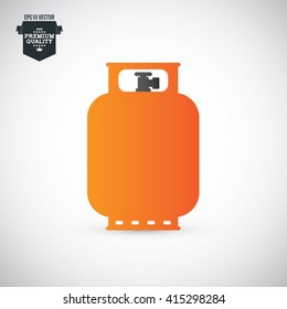 Propane Gas Tank Vector Illustration