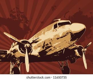 Propeller bomber vector illustration