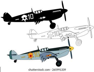 Propeller fighter plane from World War II