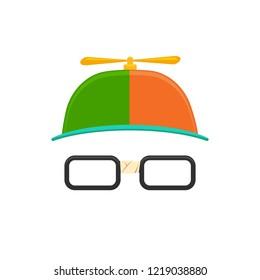 Propeller Hat with Eye Glasses