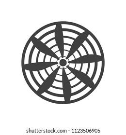 propeller icon on white background vector art