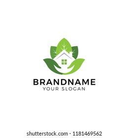 Property care, home, real estate logo design vector