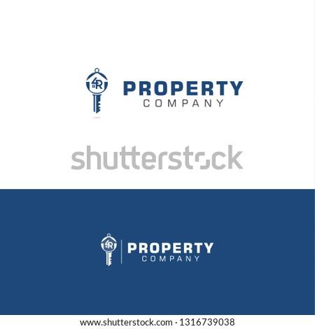Property Company Logo Shape Key 4 R Stock Vector (Royalty Free